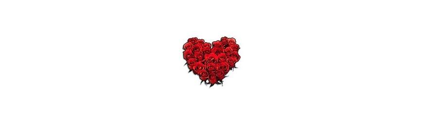 Corazones de rosas
